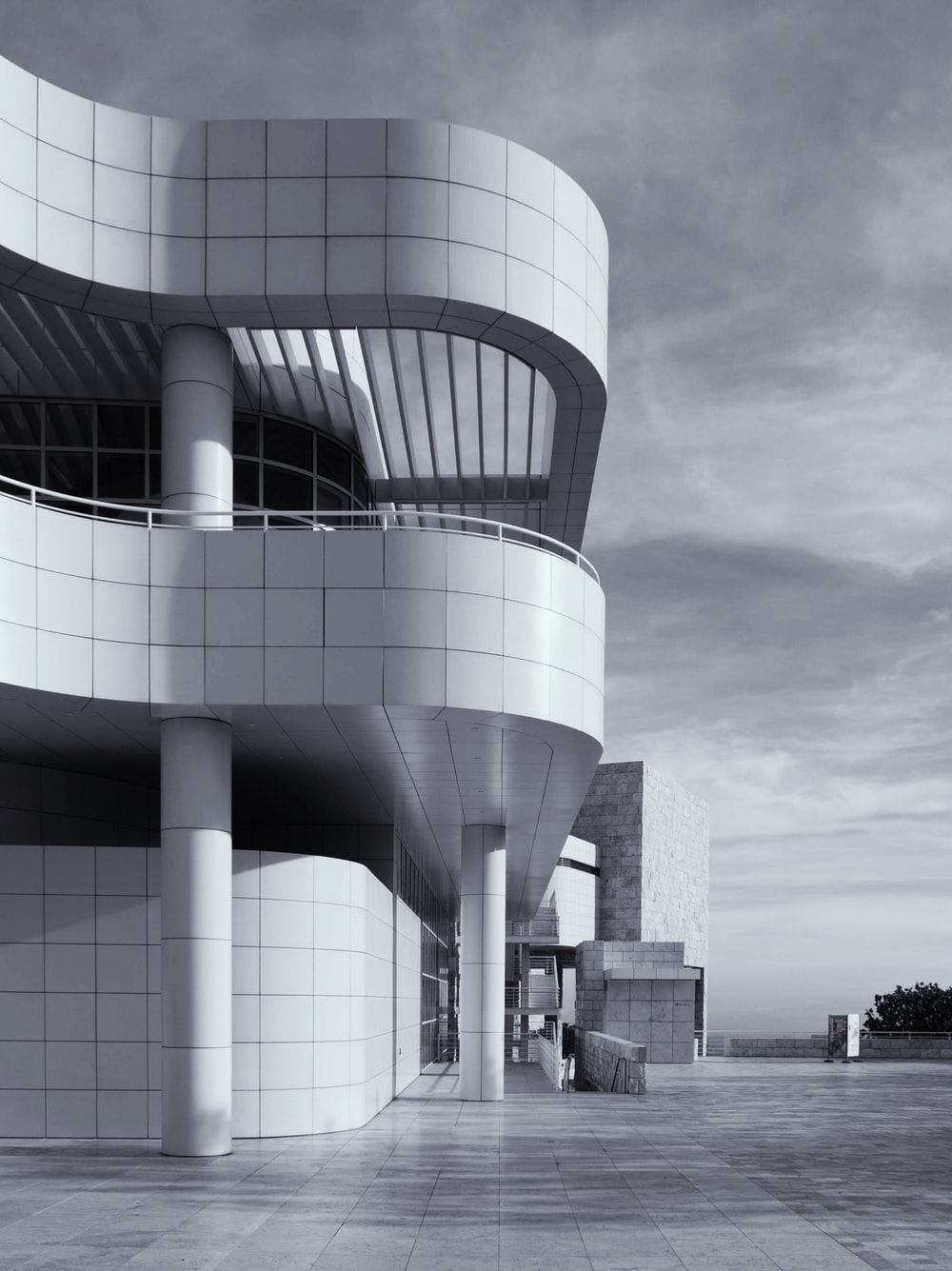 empty white concrete building