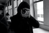 black and white DSLR camera