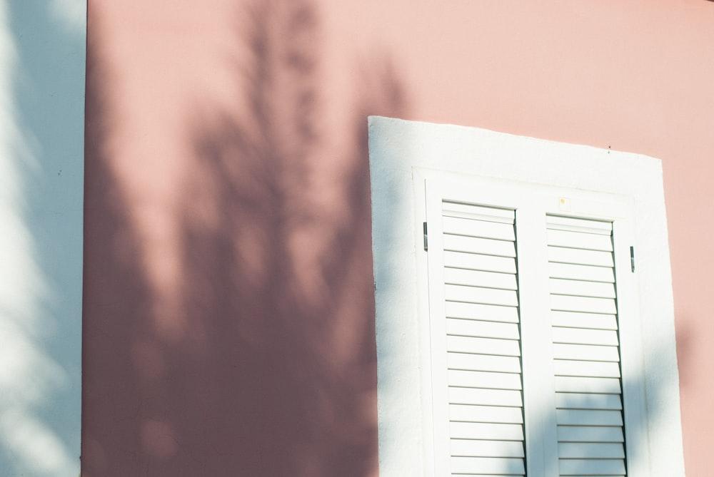 white louver door