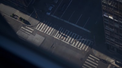 aerial photo of empty street during daytime asphalt zoom background