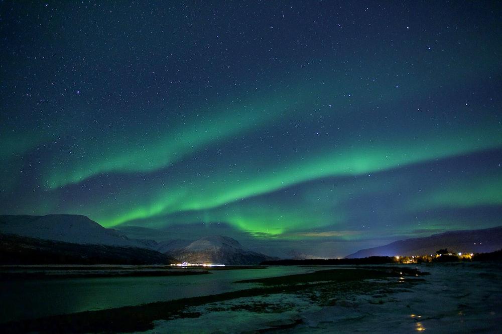 landscape photography of aurora lights