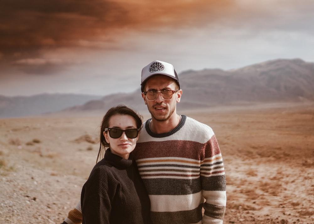 man beside woman