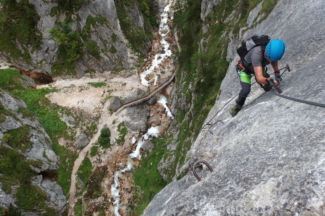 Via ferrata Rosina in Alps