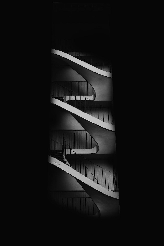 white concrete stairway
