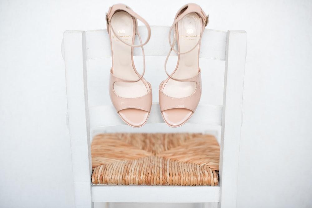 nude open-toe ankle strap heels