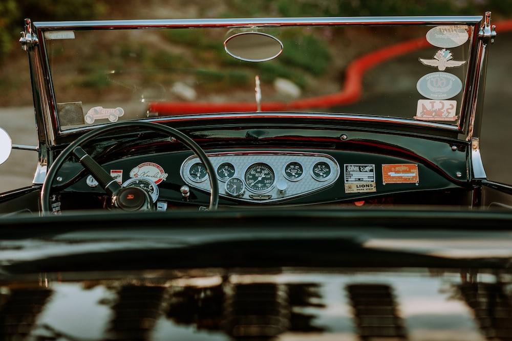 shallow focus photo of car interior