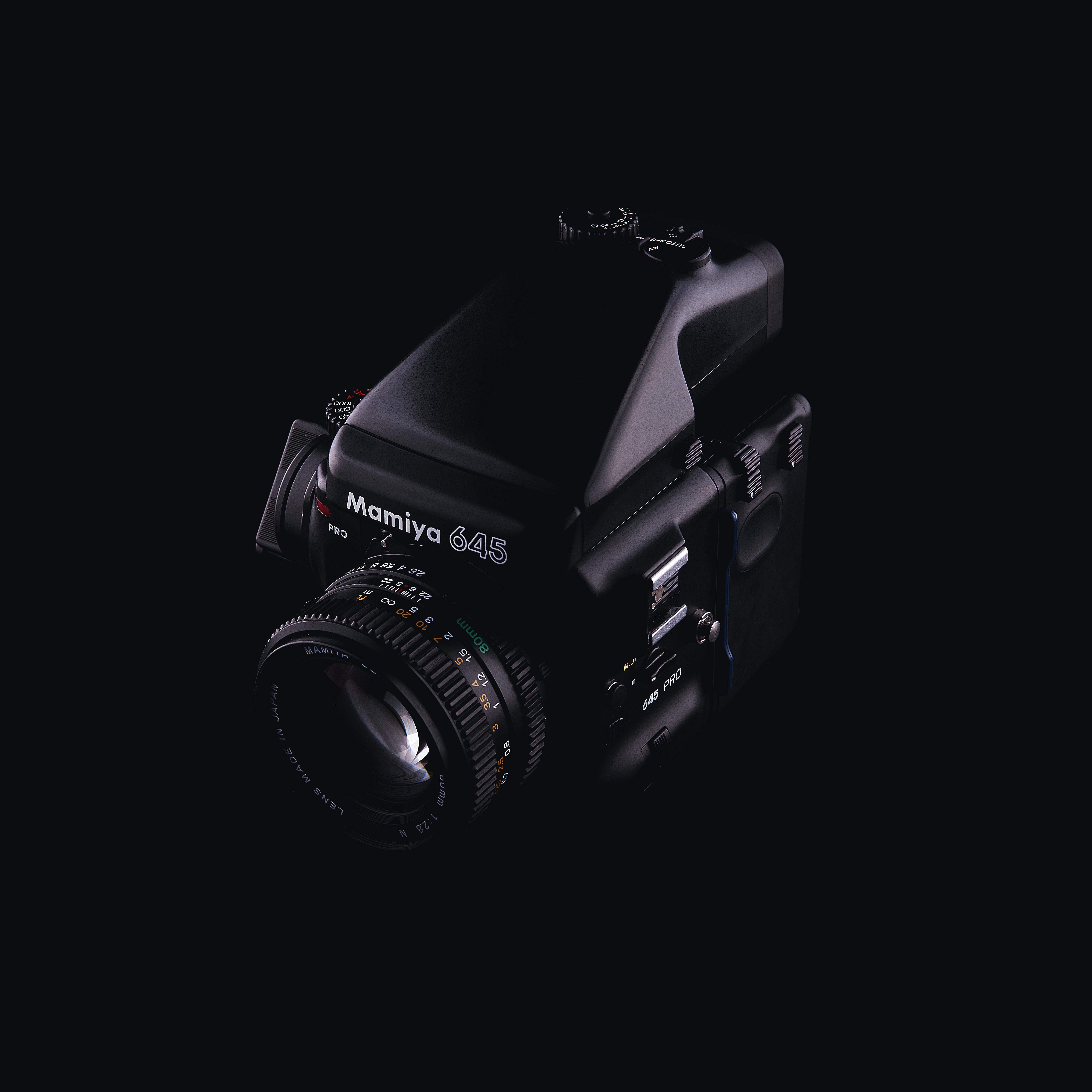 black Nikon Coolpix DSLR camera