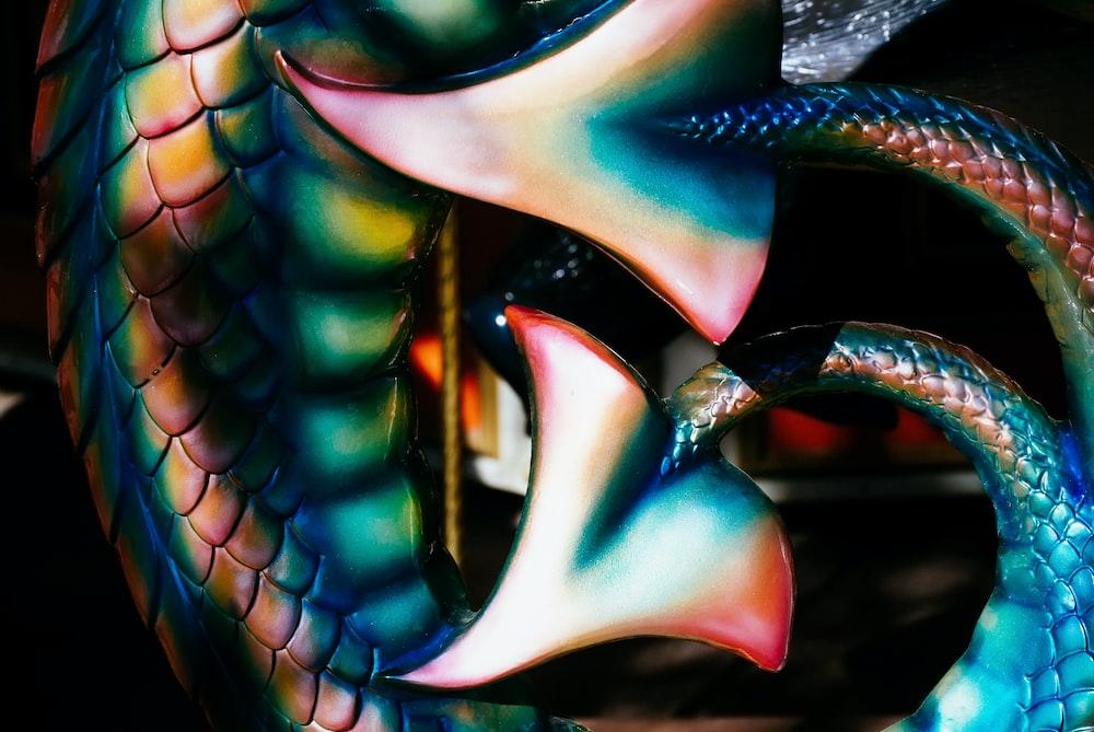multicolored tail decor