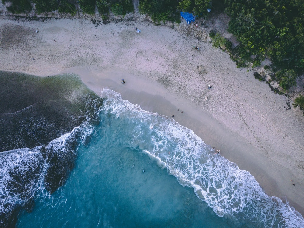 aerial photography of blue ocean