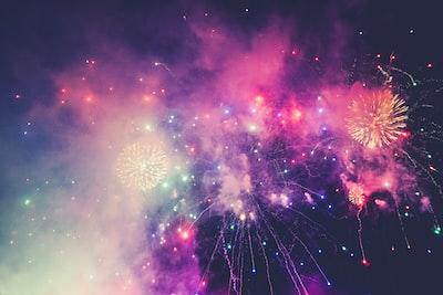 multicolored fireworks fireworks zoom background