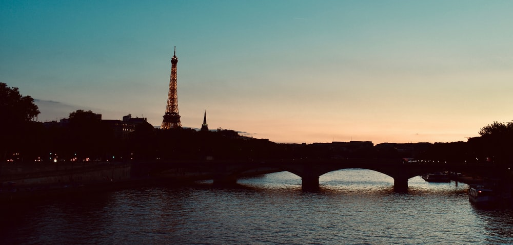 silhouette photo of Eiffel Tower, Paris