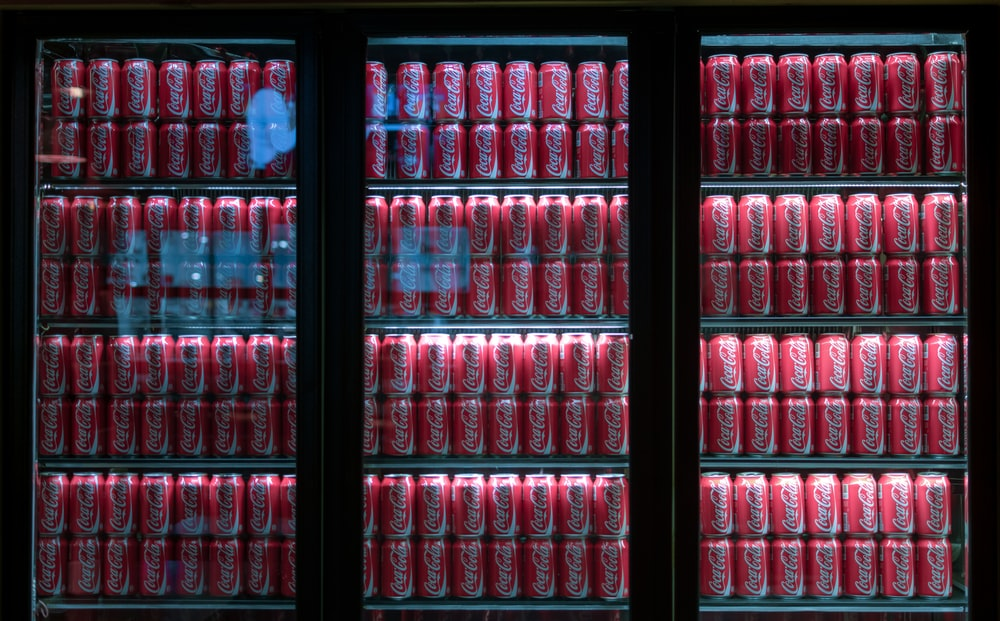 Coca-Cola can lot in beverage vending machines