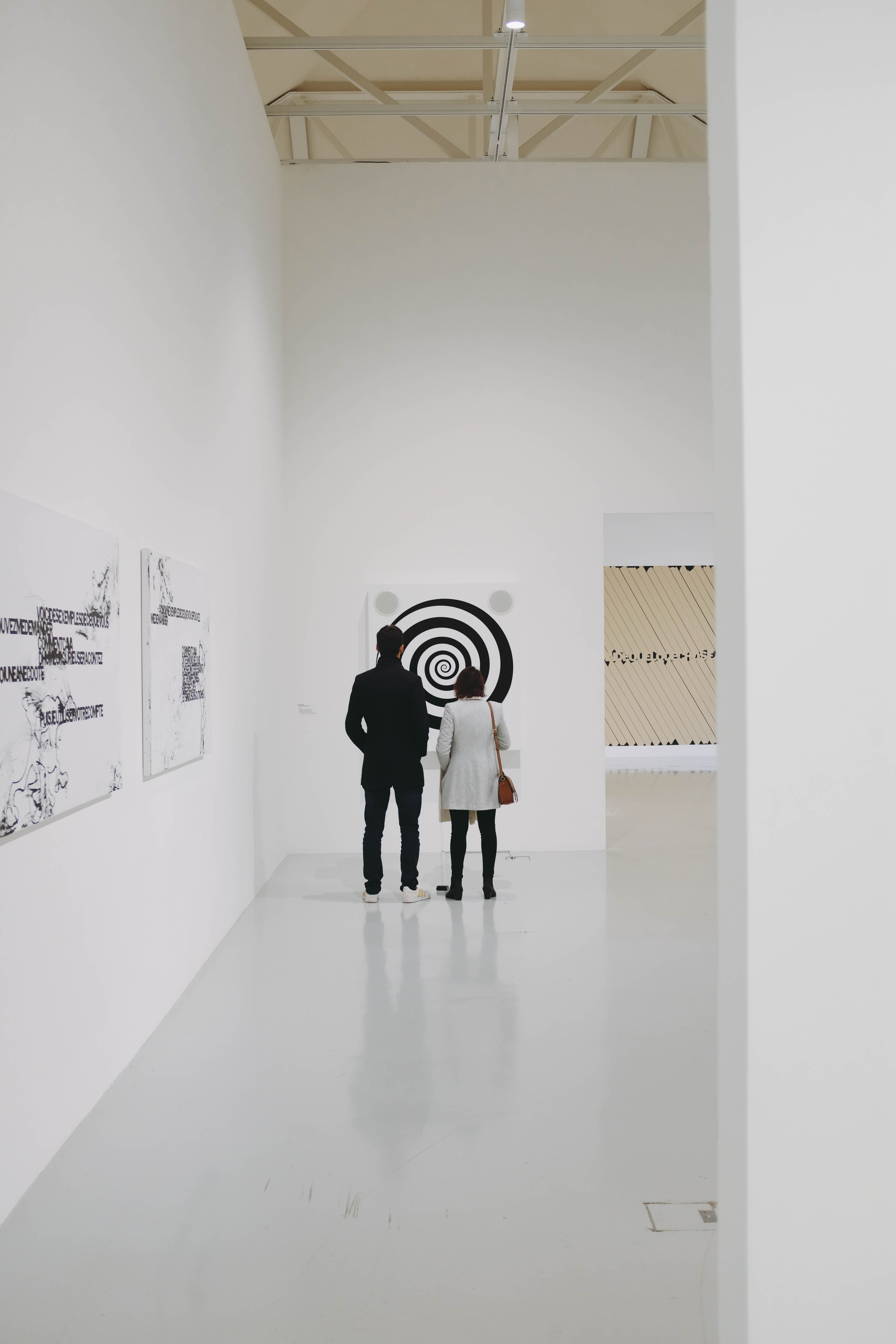 man and woman standing