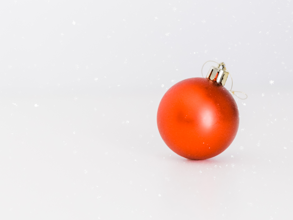 one red bauble