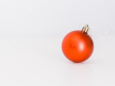 one red bauble christmas eve zoom background