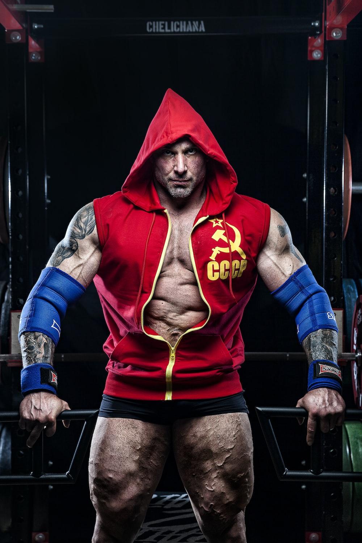 male wrestler graphic portrait