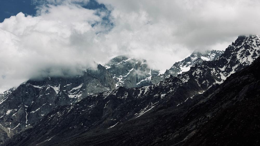snow-covered peak mountain