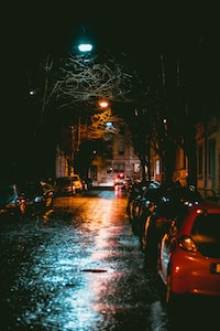 our street at night