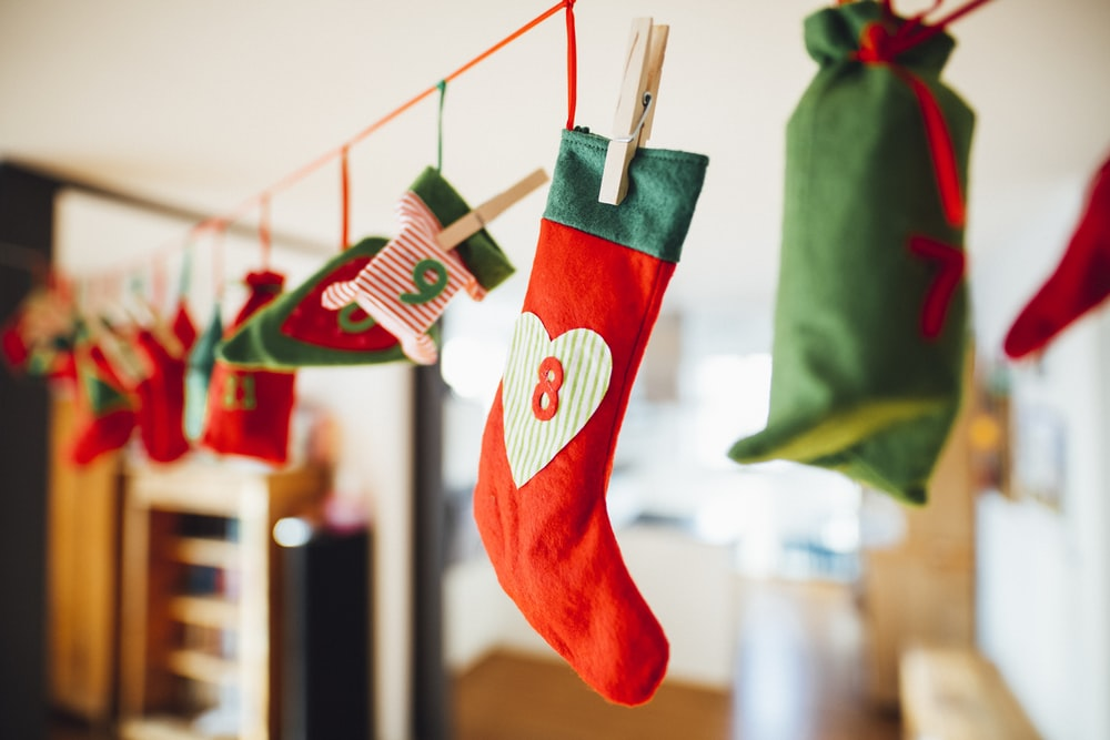 red and white stocking