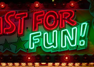 Just for Fun LED sign