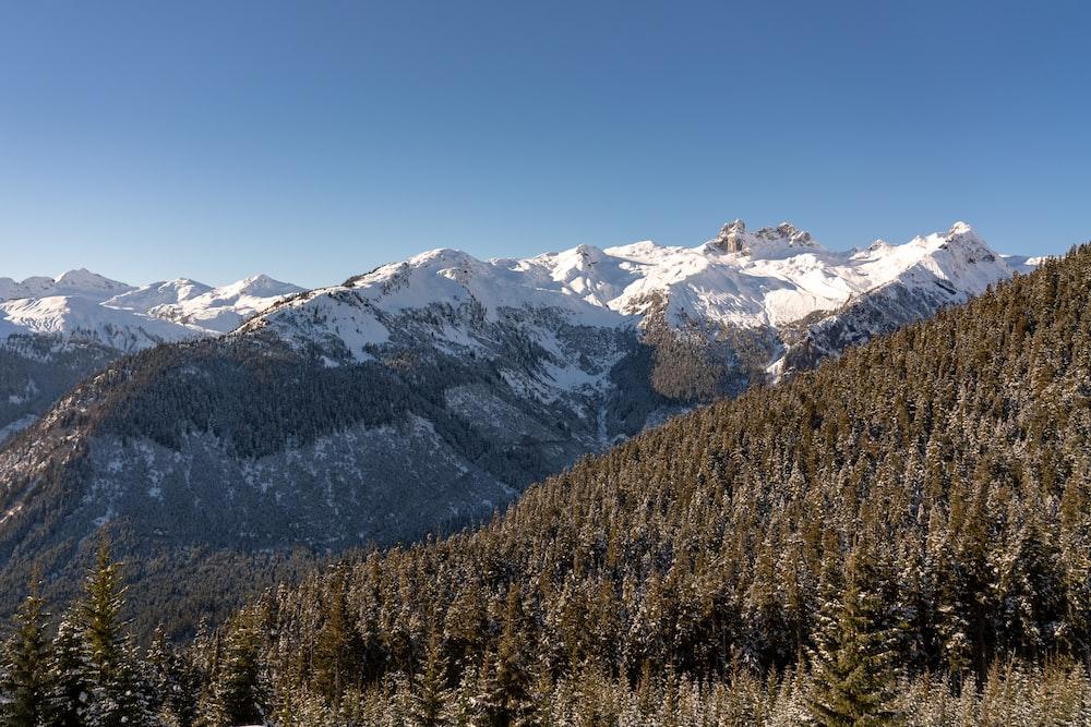 snowcapped mountain range