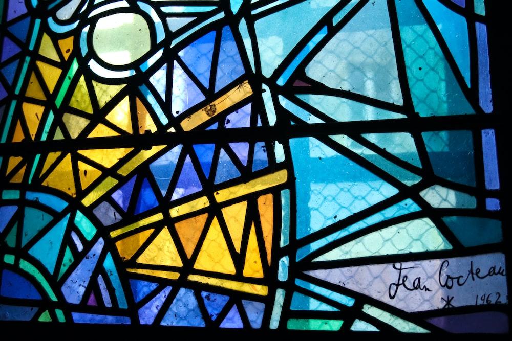 mosaic glass wall