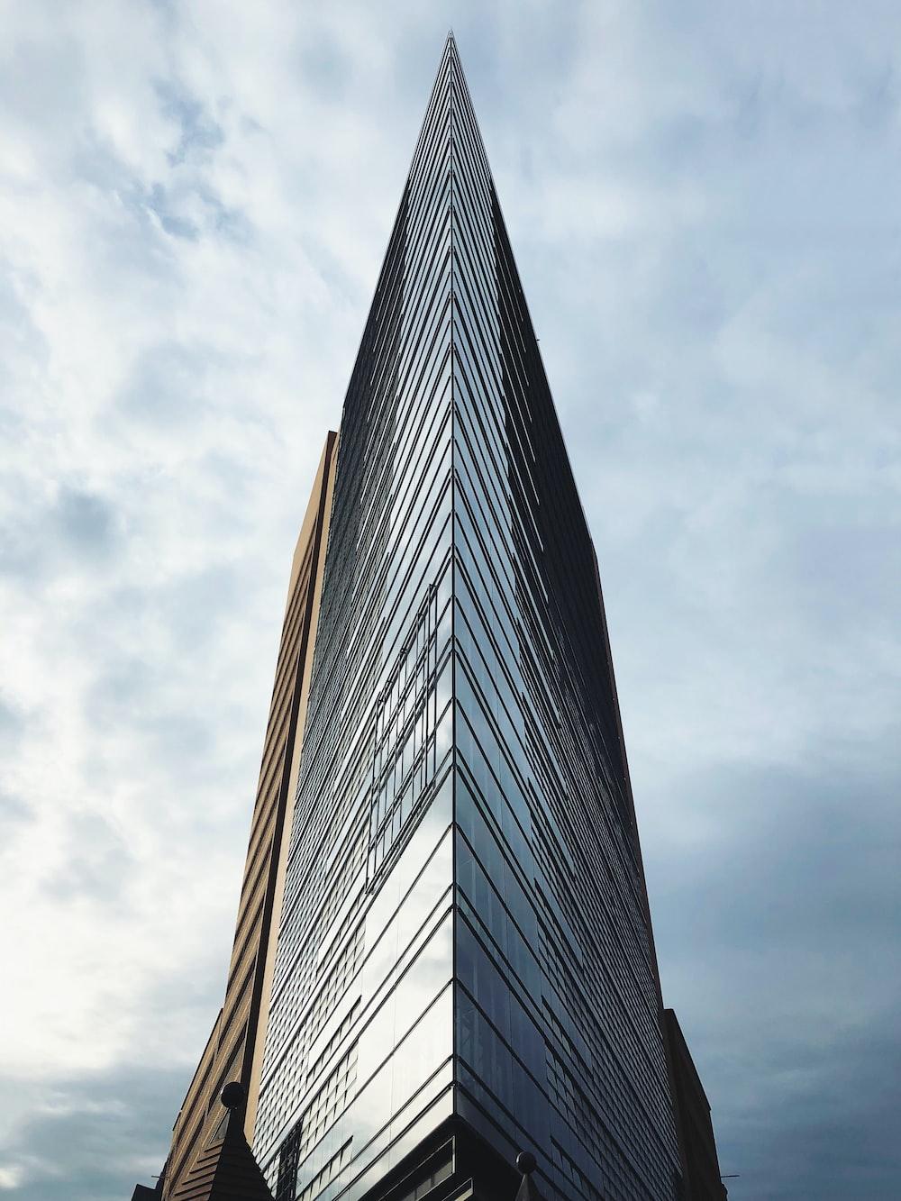 triangular curtain building during daytime