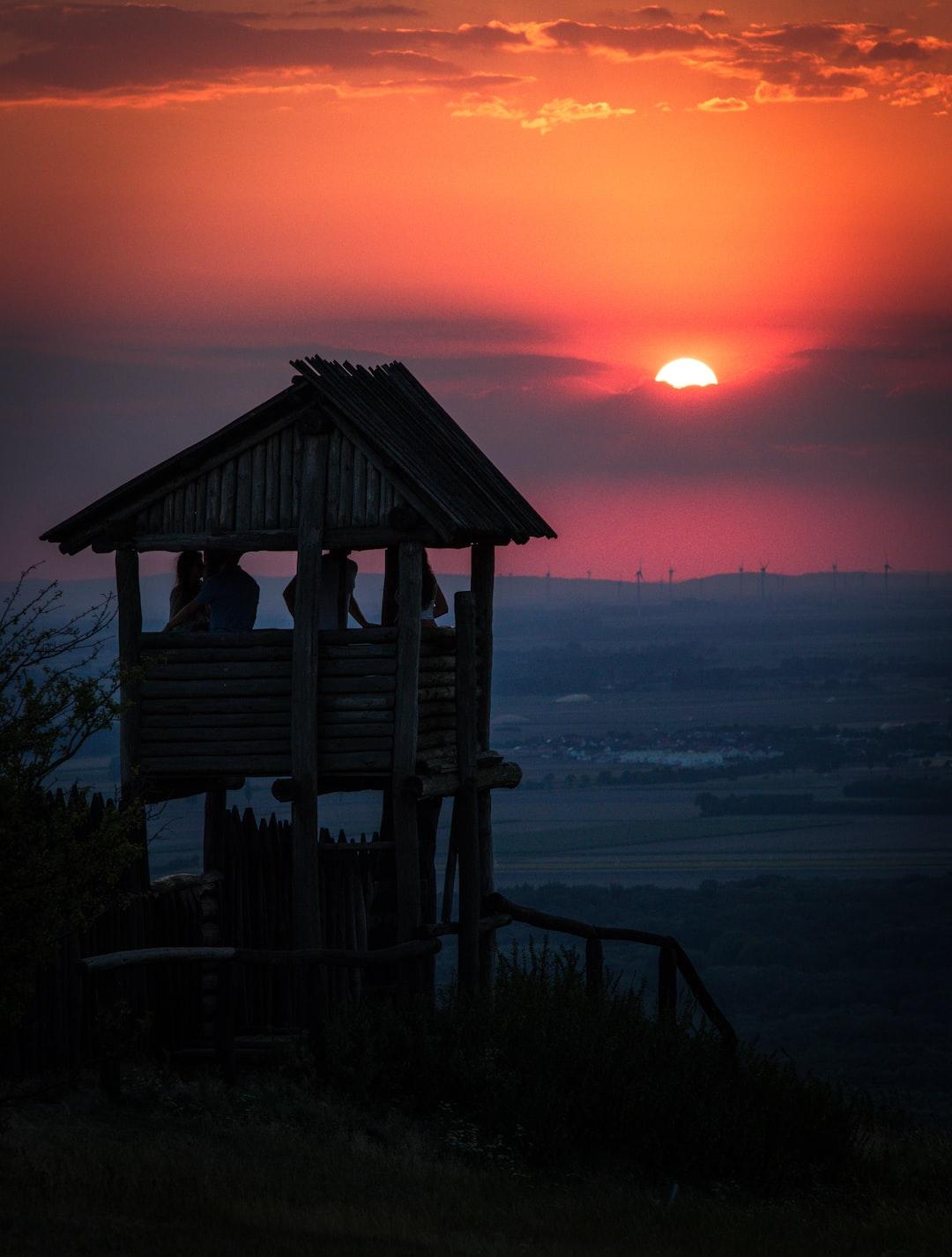 This wonderful sunset was taken at Austria, Hainburg an der Donau