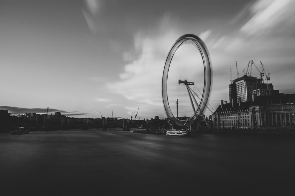 London Eye in timelapse photography