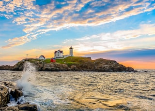 lighthouse on islet