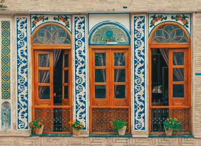 brown wooden framed doors iran teams background