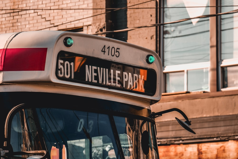 bus showing 501 Neville Park route