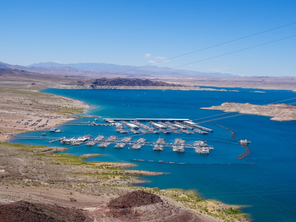 bird's eye view photography of boats near dock