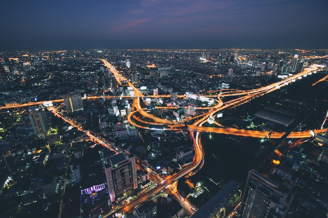 View over Bangkok traffic