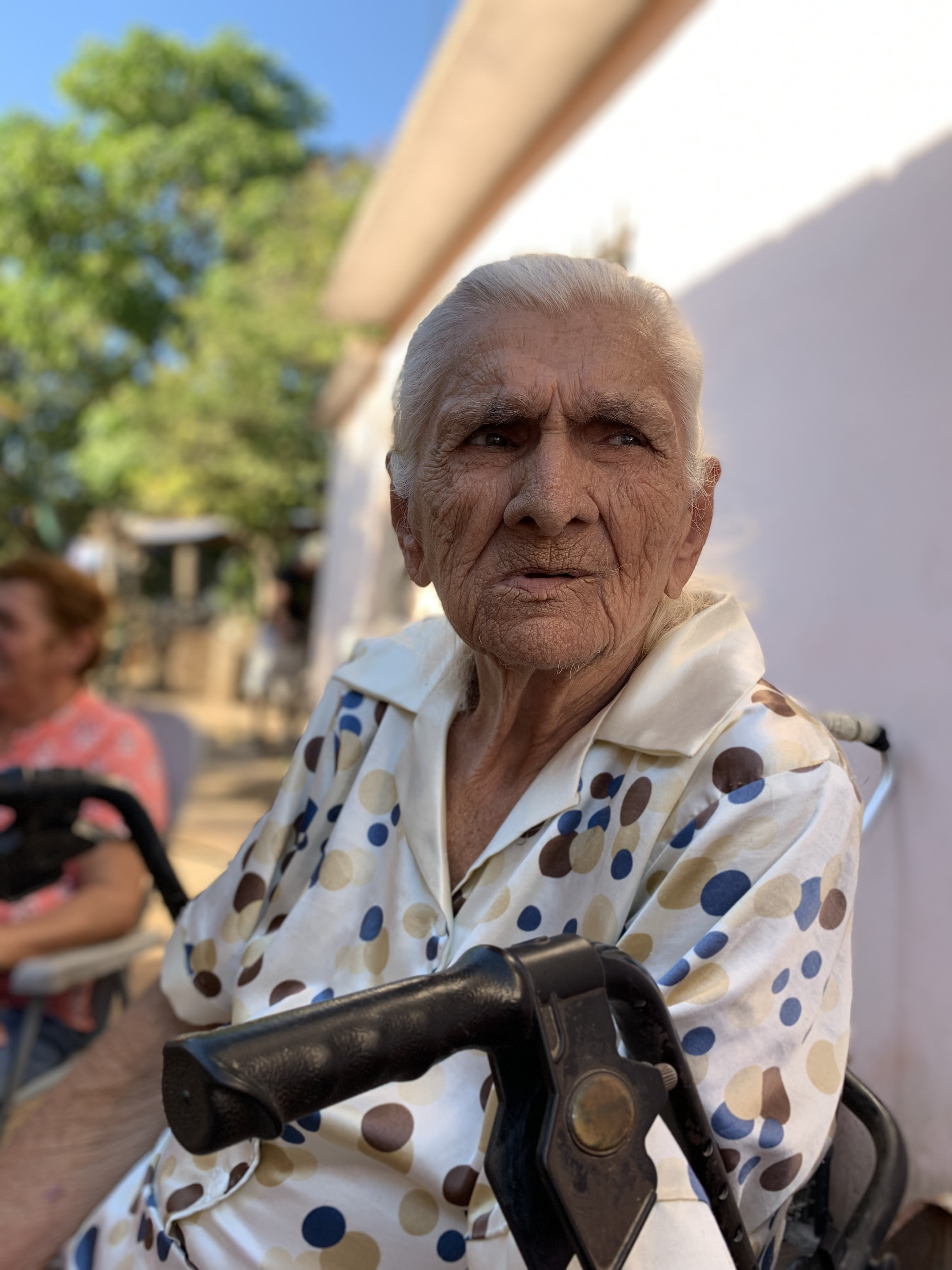 woman sit on wheelchair