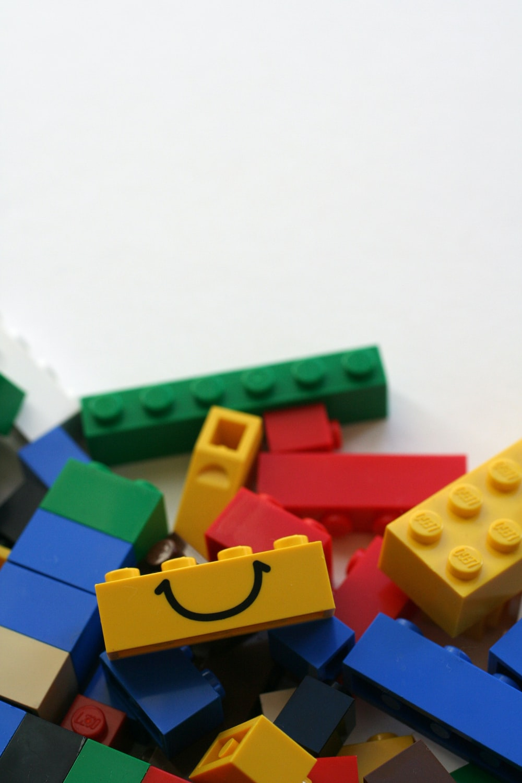 closeup photo of assorted-color LEGO blocks