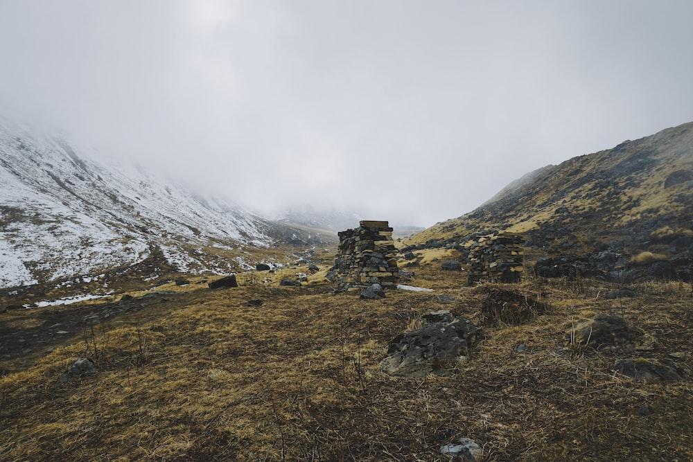 rock formation beside mountain