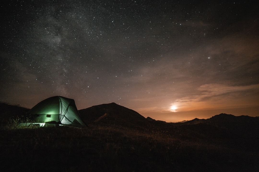 I went camping at La Challe Mount last summer, and was pretty lucky to get both a moonset and the milkyway together. At some point I needed to get off the trail, but it was worth it. Cold night for a summer close to Les Menuires ski resort.