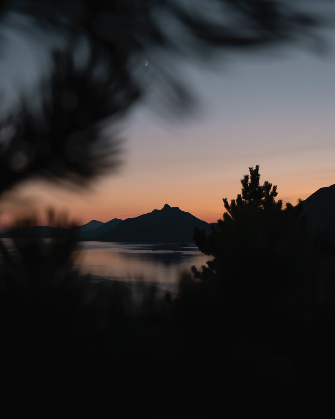 Sunset on the Vancouver islands