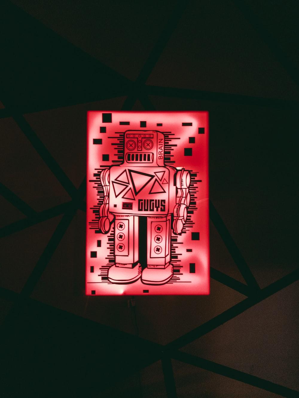 red robot light
