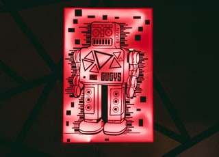 red robot light