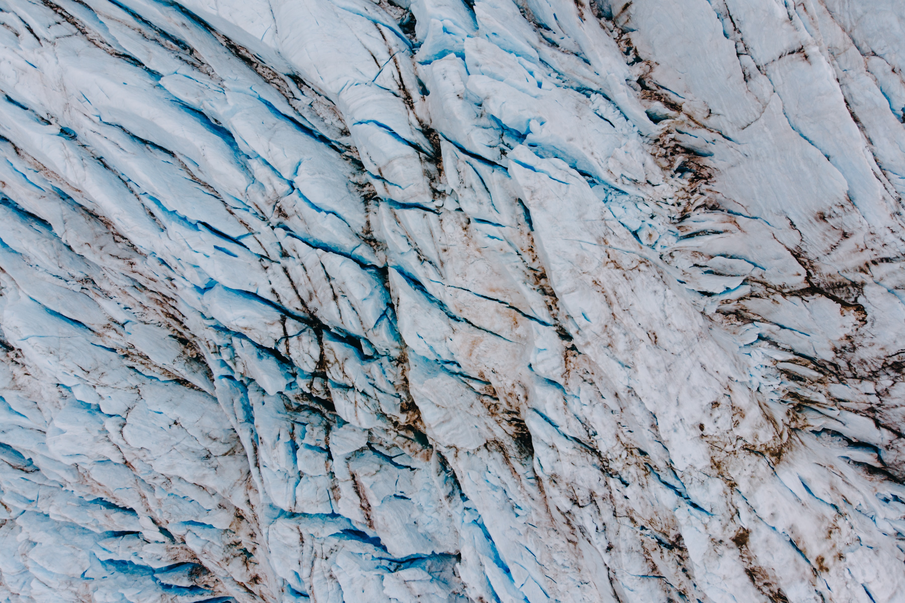 aerial photography of white glaciers