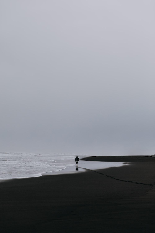 man on seashore
