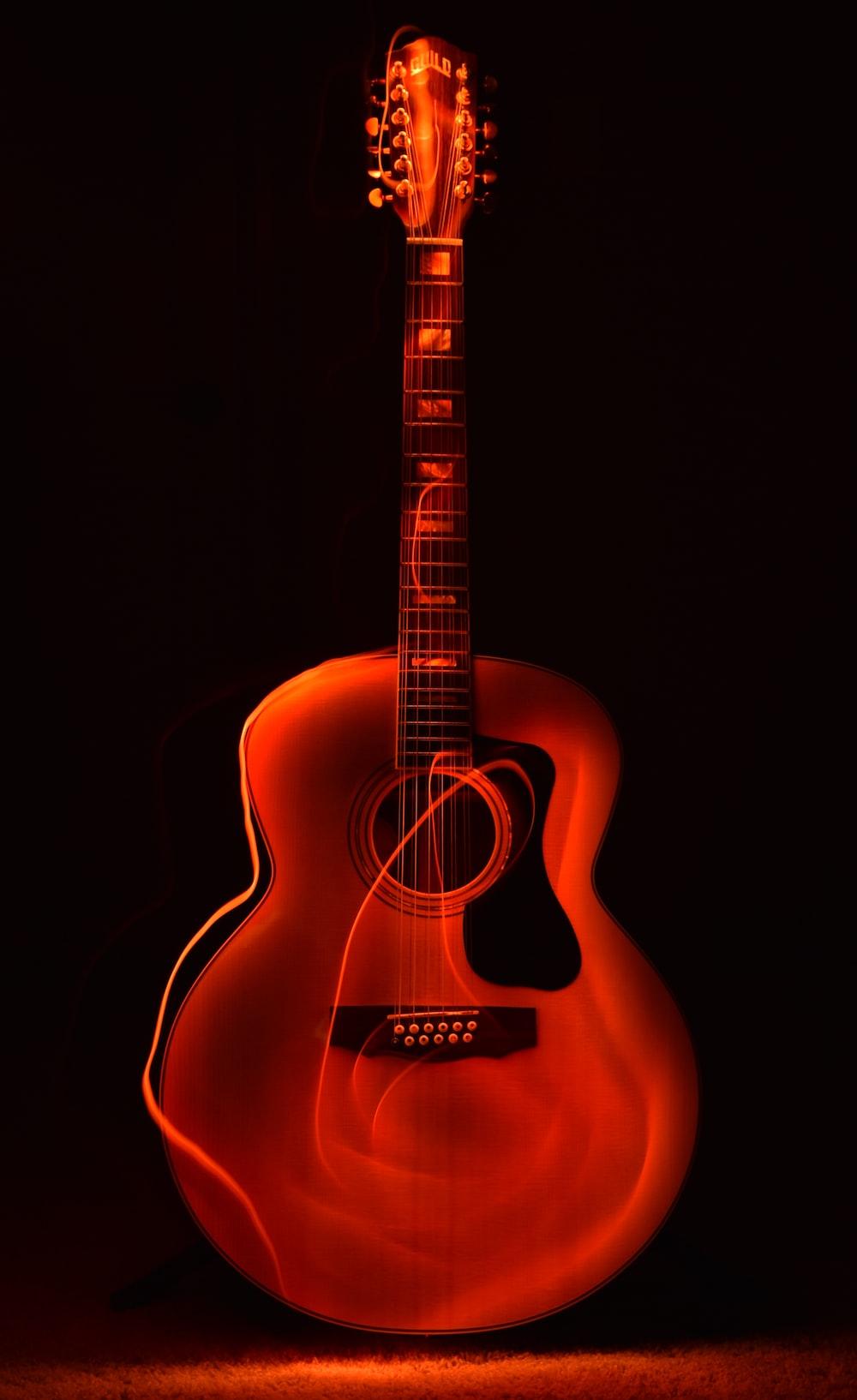 Orange Guitar Wallpaper Photo Free Guitar Image On Unsplash