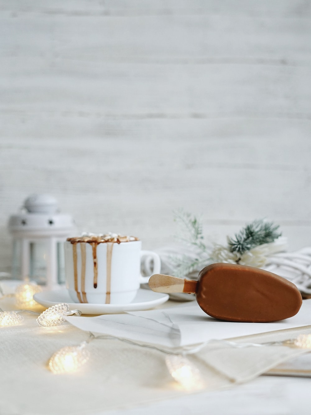 coffee in white ceramic cup on table