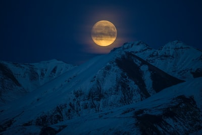 snow coated mountain at night time alaska zoom background