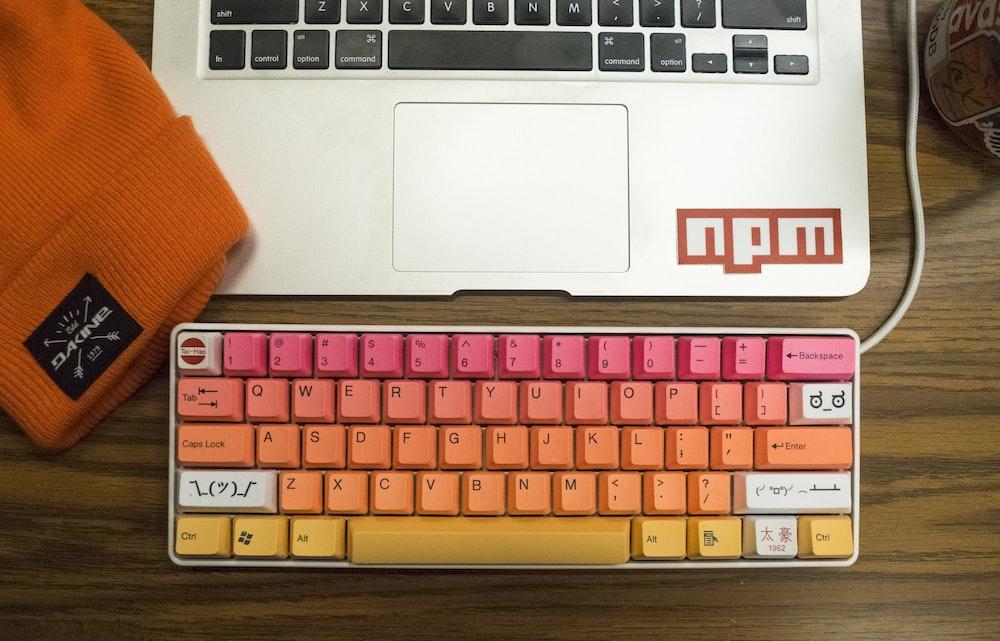 orange pink keyboard