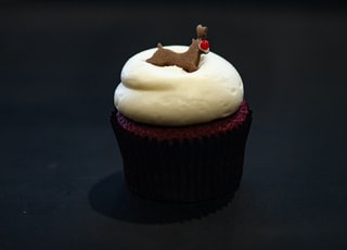 cupcake on black surface