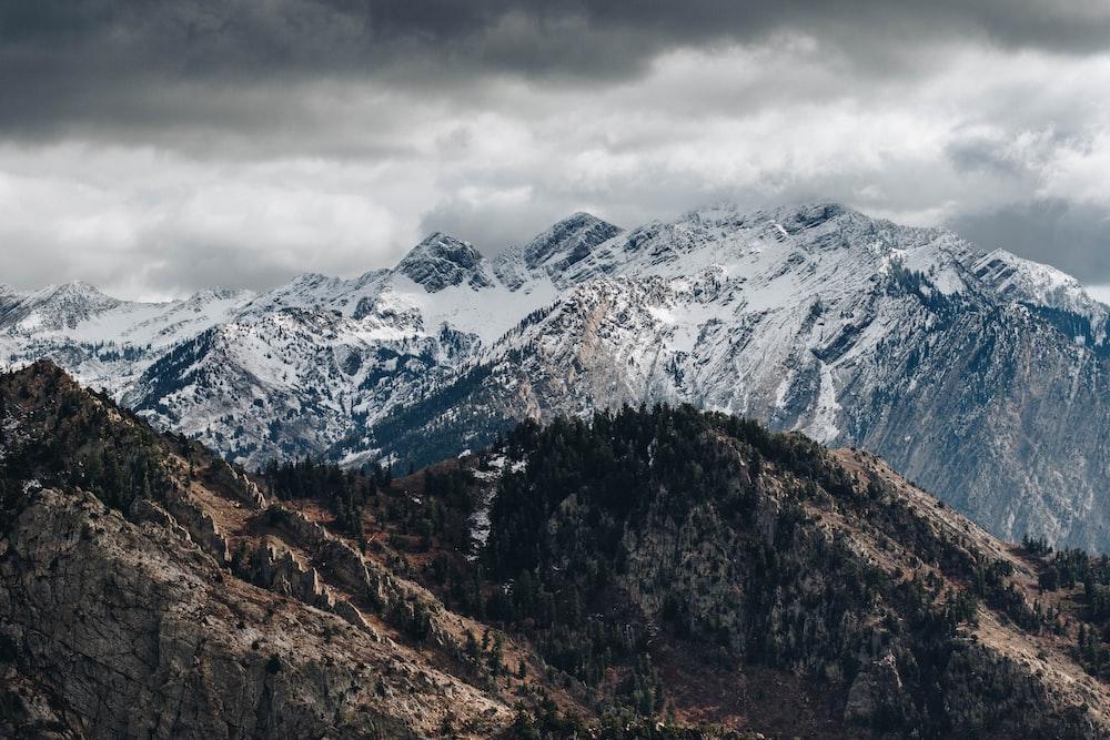 snow mountain range wallpaper
