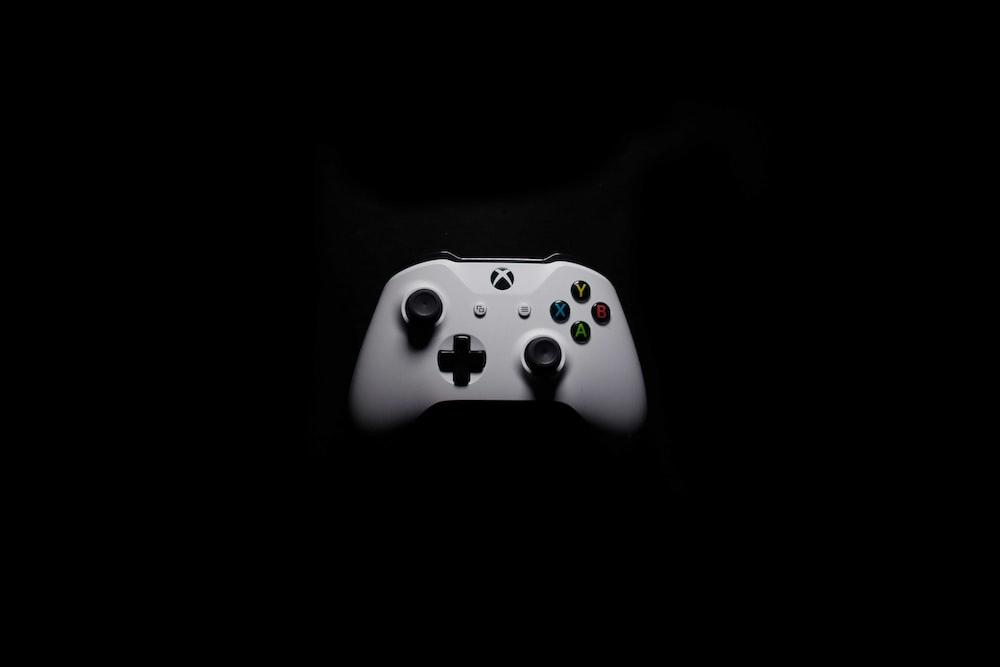 white Microsoft Xbox One controller